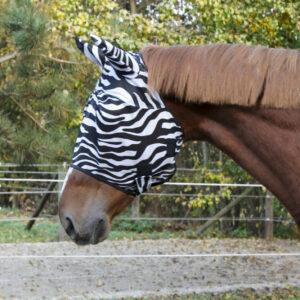 Zebra Fliegenmaske